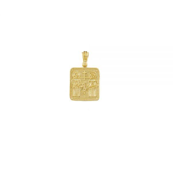 Μενταγιόν Κωνσταντινάτο Σε Κίτρινο Χρυσό